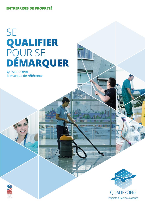 Plaquette de présentation Qualipropre pour les entreprises de la propreté